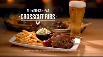 Applebees All-You-Can-Eat Crosscut Ribs TV Spot, 'Still Haven't Tried?'