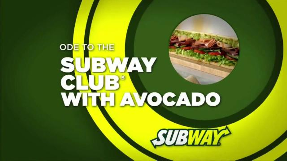 Subway Club with Avocado TV Spot, 'Ode to the Subway Club with Avocado' - Screenshot 1