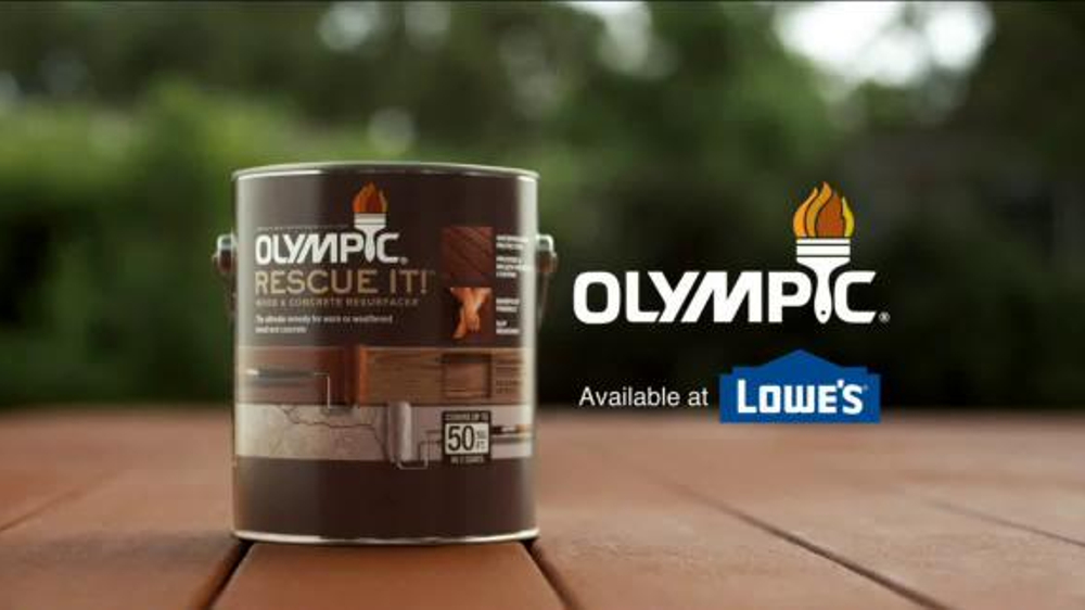 Olympic Rescue It Wood Amp Concrete Resurfacer Tv Spot