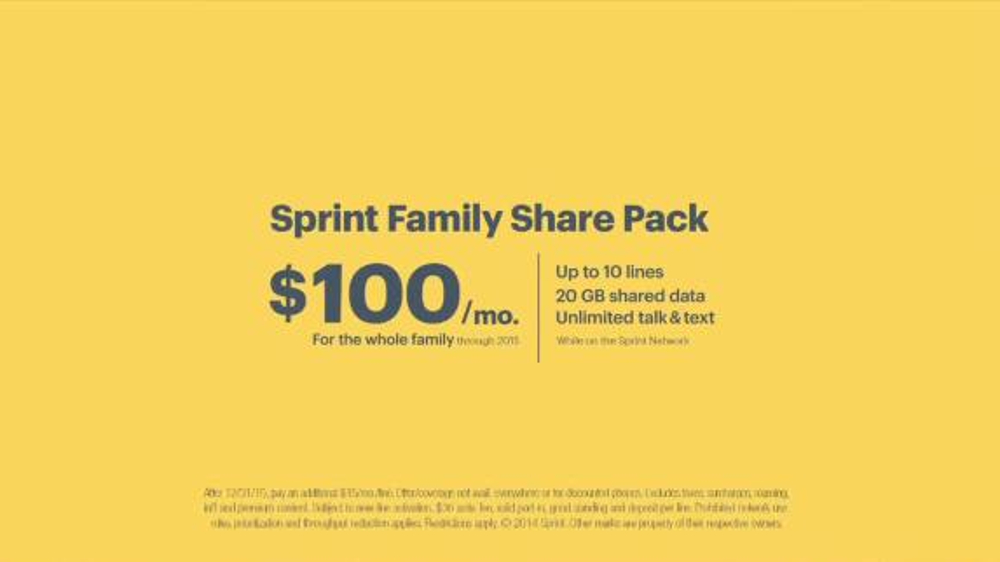 Sprint Family Plan Tv Spot 39 Best Family Plan Ever 39 Song