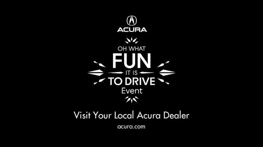 Acura Oh What Fun It Is To Drive Event Tv Commercial