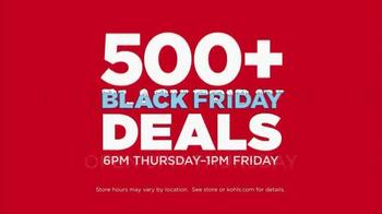 Kohl's Black Friday Deals TV Spot, 'Friday Deals on Thursday'
