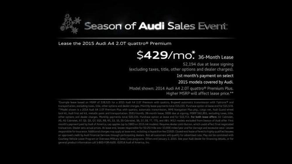 Audi Season Of Audi Sales Event Tv Spot Santa Ispot Tv