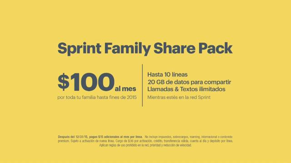 Sprint Plan Familiar Tv Commercial 39 Gritando 39 Letra Por