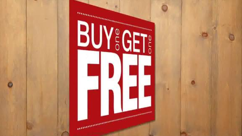 Destination xl buy one get one free tv commercial 39 best for Buy 1 get 1 free shirts
