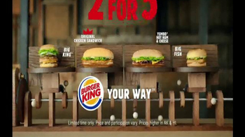 Burger King 2 for $5 TV Spot, 'Mix and Match' thumbnail