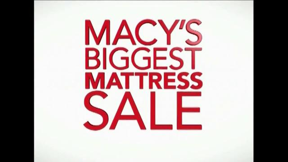 Macy s Biggest Mattress Sale TV mercial Sale of the