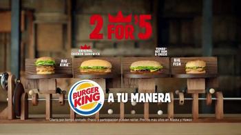 Burger King TV Spot, '2 por $5: Dos Sándwiches' [Spanish] thumbnail