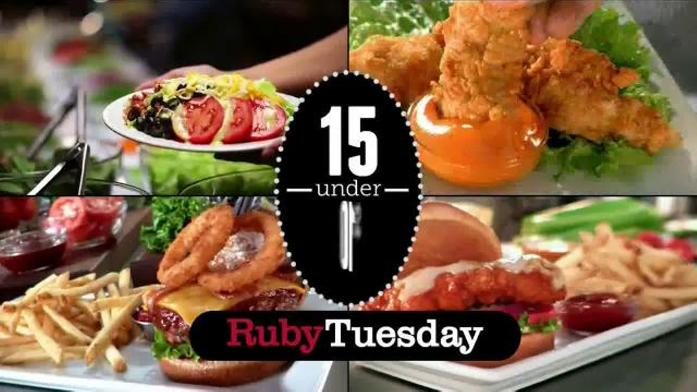 Ruby Tuesday 15 Under 10 Tv Spot 39 Burgers Flatbreads And More 39