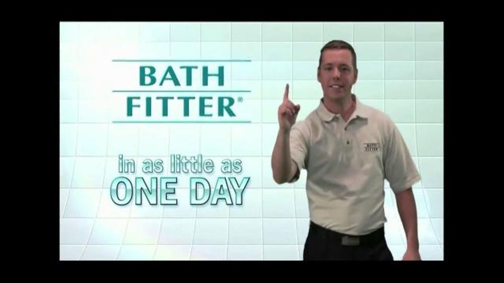 Bath fitter tv commercial 39 one day remodel 39 for Bath remodel one day