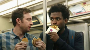 Taco Bell A.M.Steak and Egg Crunchwrap TV Spot, 'Subway'