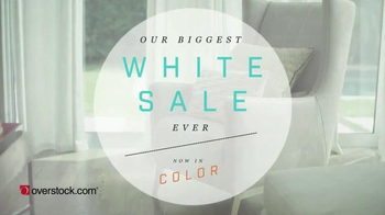 Overstock.com Biggest White Sale Ever TV Spot, 'Now in Color' thumbnail