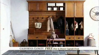 California Closets Door, Drawer Upgrade Event TV Spot