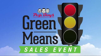 PepBoys Green Means Go Sales Event TV Spot