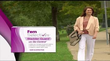 Fem Selectives Bladder Guard TV Spot, 'Bladder Control'