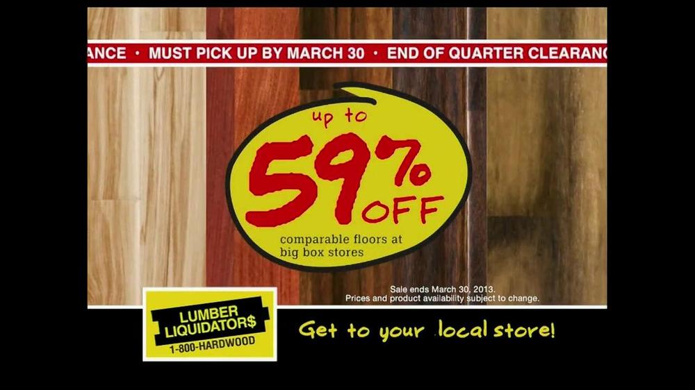 Lumber Liquidators End of Quarter Clearance Sale TV ...
