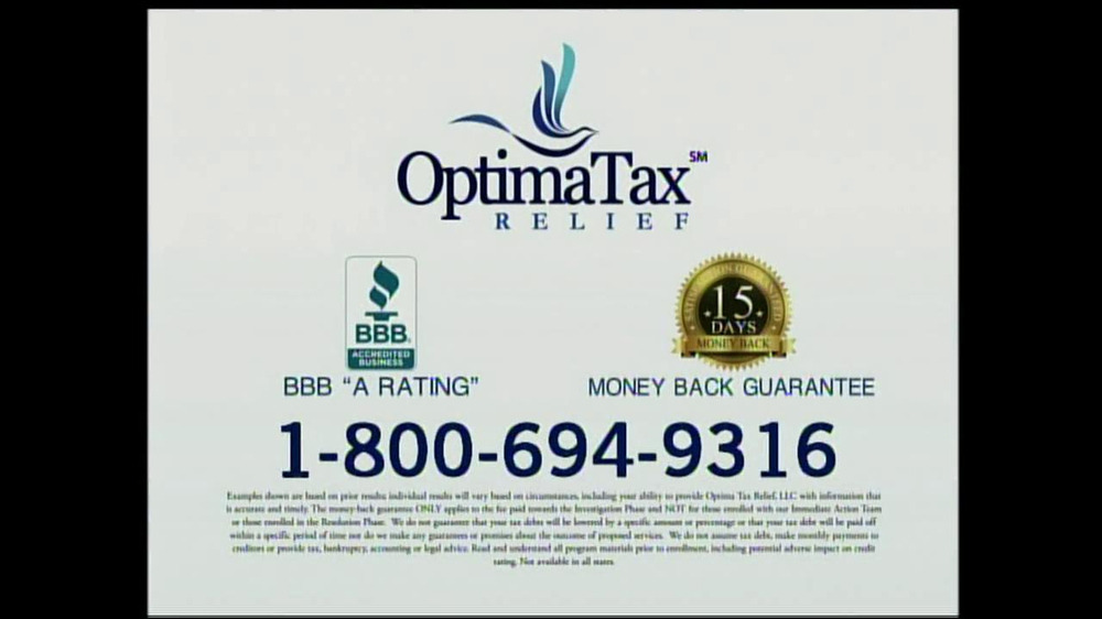 Optima Tax Relief TV Commercial, 39;Good News39;  iSpot.tv