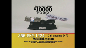 Western Sky Financial TV Spot, 'Bills Outweigh Cash' thumbnail