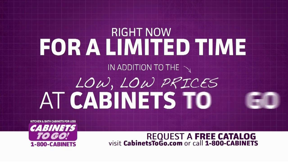 Cabinets To Go TV Spot, 'Free Upgrades' - Screenshot 3