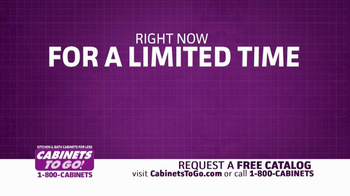Cabinets To Go TV Spot, 'Free Upgrades' - Thumbnail 2
