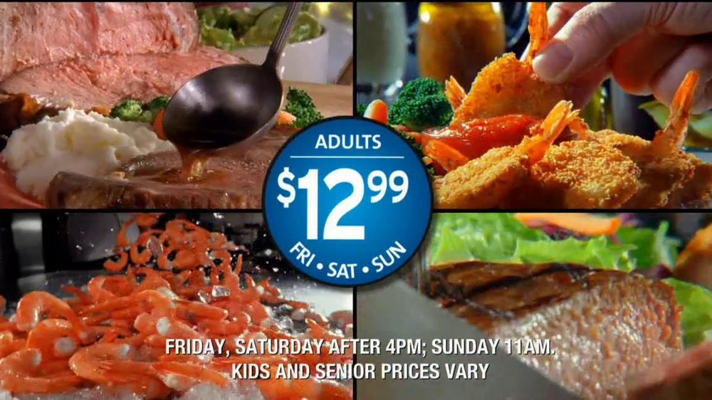 Golden Corral Prime Rib and Shrimp Weekend TV Spot  - Screenshot 8