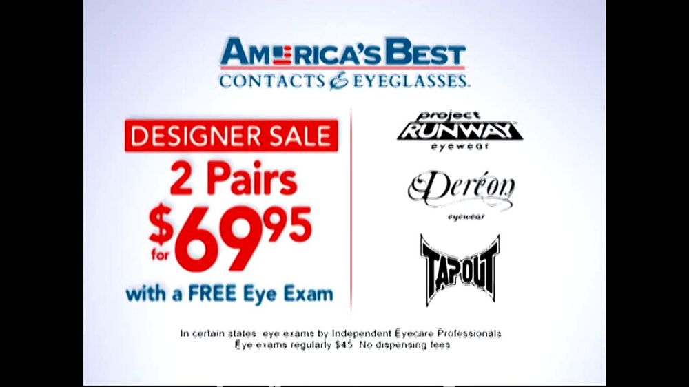 America's Best Contacts and Eyeglasses TV Spot 'Designer Sale' - Screenshot 2