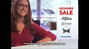 America's Best Contacts and Eyeglasses TV Spot 'Designer Sale' - Thumbnail 3