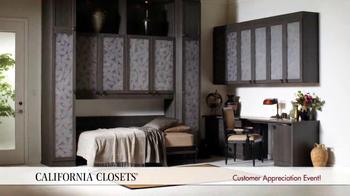 California Closets Customer Appreciation Event TV Spot