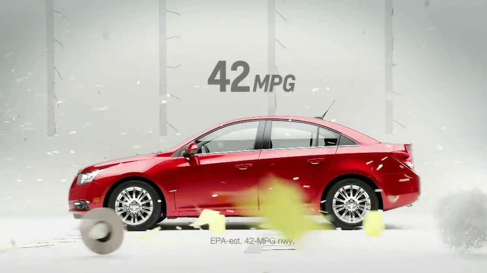 Chevrolet Cruze Eco TV Spot, 'Wind Test' - Screenshot 7