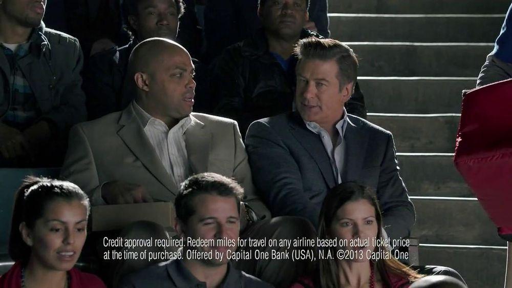 Capital One TV Spot, 'For Later' Feat. Alec Baldwin, Charles Barkley - Screenshot 6