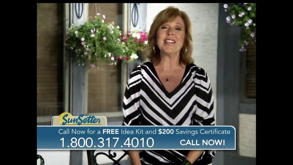 SunSetter TV Spot, Featuring Joan Steffend - iSpot.tv