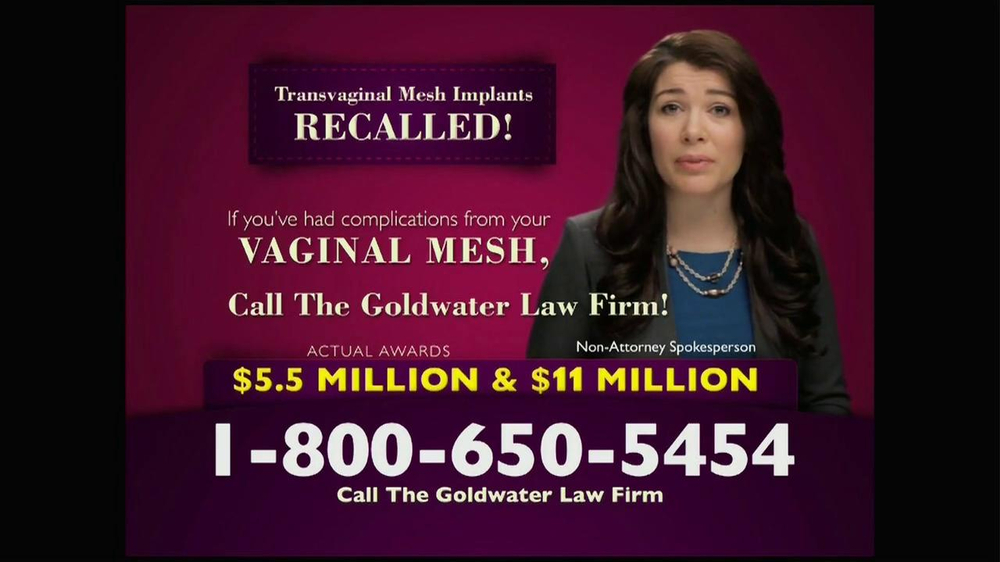 Pulaski Law Firm >> Goldwater Law Firm TV Commercial, 'Transvaginal Mesh ...