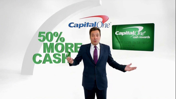 Capital One TV Spot, '50% More' Featuring Jimmy Fallon - Thumbnail 3