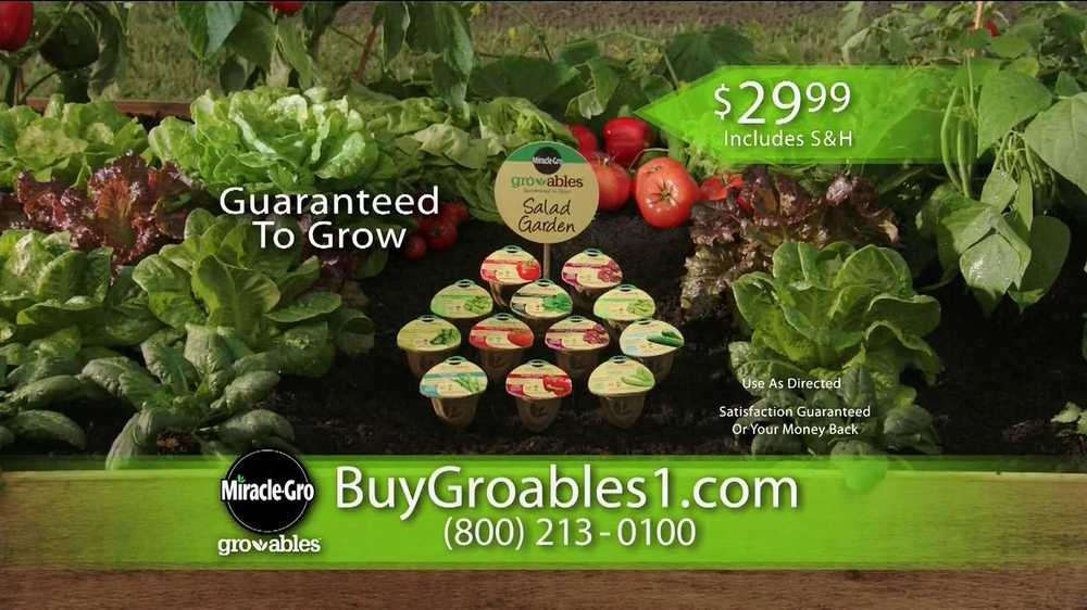 Miracle-Gro Gro-ables TV Spot  - Screenshot 5