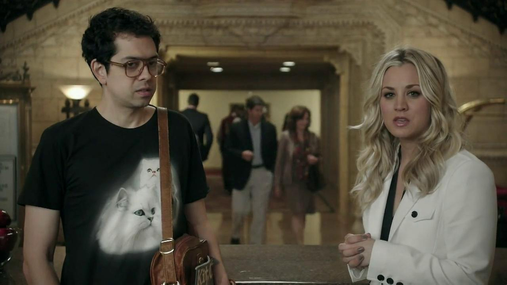Priceline.com TV Spot, 'Cat Guy' Featuring Kaley Cuoco - Screenshot 10