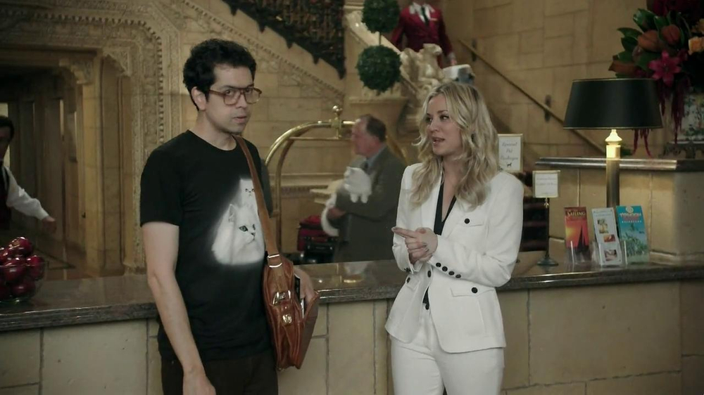 Priceline.com TV Spot, 'Cat Guy' Featuring Kaley Cuoco - Screenshot 2