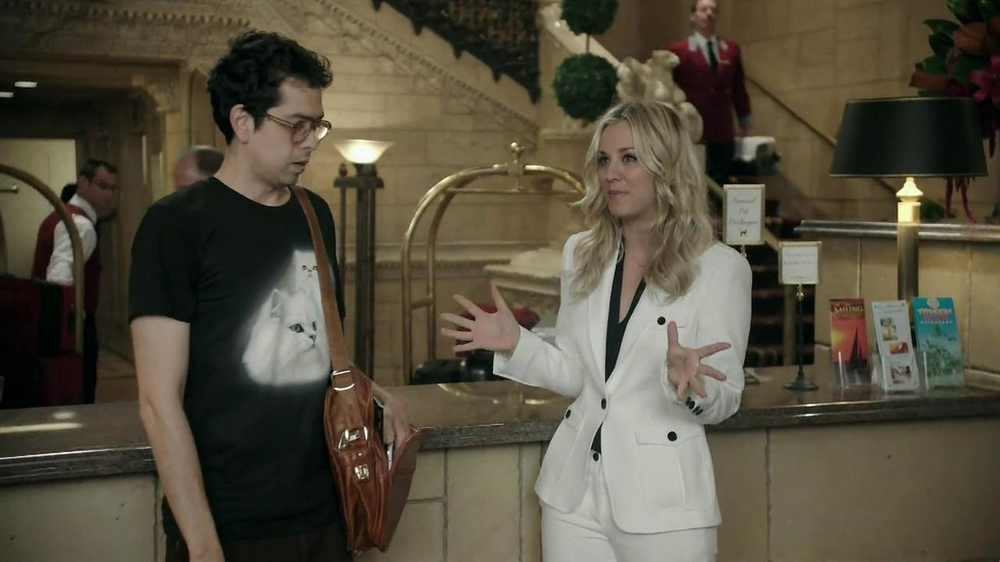 Priceline.com TV Spot, 'Cat Guy' Featuring Kaley Cuoco - Screenshot 3
