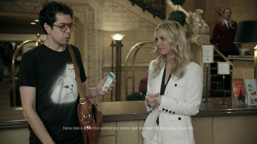 Priceline.com TV Spot, 'Cat Guy' Featuring Kaley Cuoco - Screenshot 4