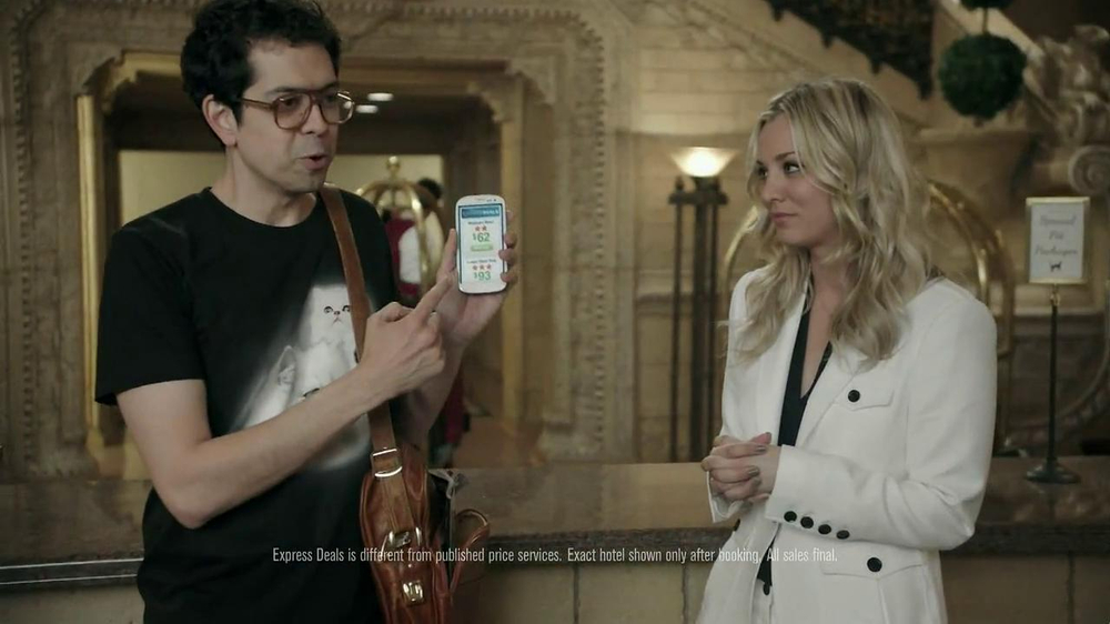 Priceline.com TV Spot, 'Cat Guy' Featuring Kaley Cuoco - Screenshot 5