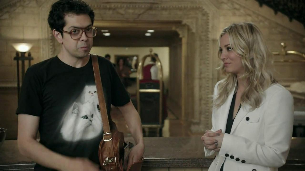 Priceline.com TV Spot, 'Cat Guy' Featuring Kaley Cuoco - Screenshot 6