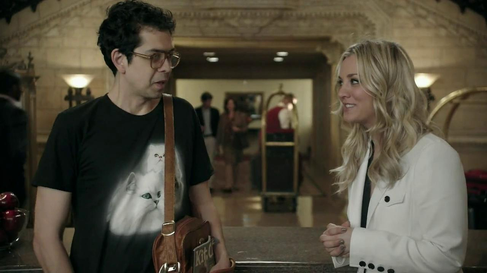 Priceline.com TV Spot, 'Cat Guy' Featuring Kaley Cuoco - Screenshot 7