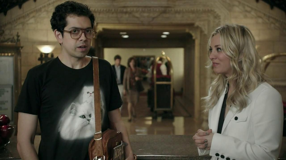 Priceline.com TV Spot, 'Cat Guy' Featuring Kaley Cuoco - Screenshot 8