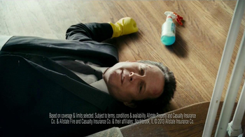 Allstate Home Insurance TV Spot, 'Mayhem: World's Worst Cleaning Lady' - Thumbnail 9
