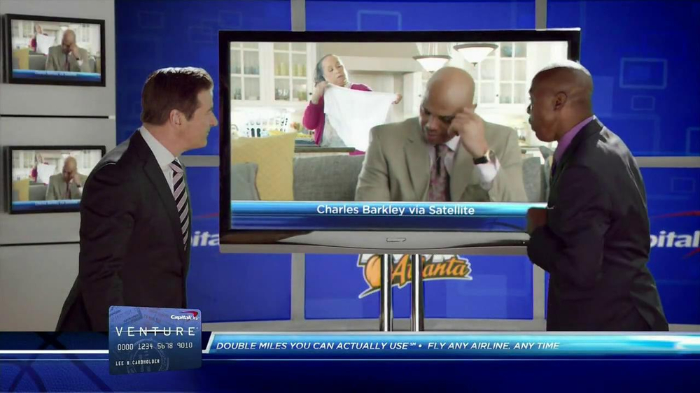 Capital One Venture TV Spot Featuring Alec Baldwin and Charles Barkley - Screenshot 6