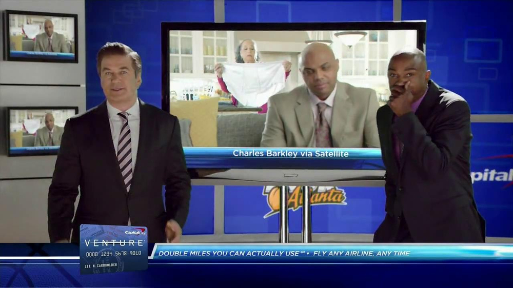 Capital One Venture TV Spot Featuring Alec Baldwin and Charles Barkley - Screenshot 7