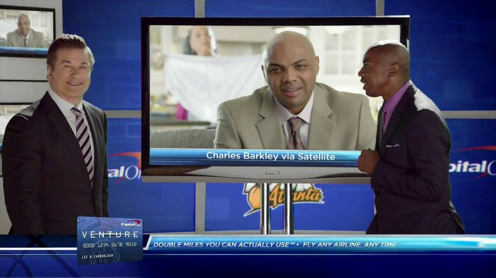Capital One Venture TV Spot Featuring Alec Baldwin and Charles Barkley - Screenshot 8