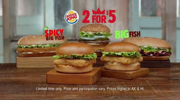 Burger King Spicy Big Fish Sandwich TV Spot, '2 for $5: Fish You Crave' thumbnail