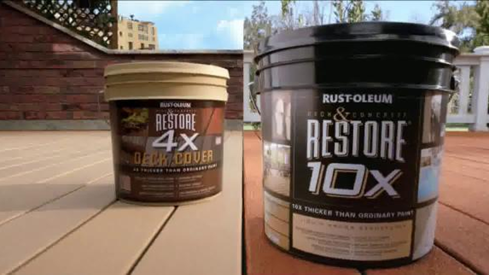 Deck and Concrete Restore® 4X Refresh your deck or patio with Rust ...