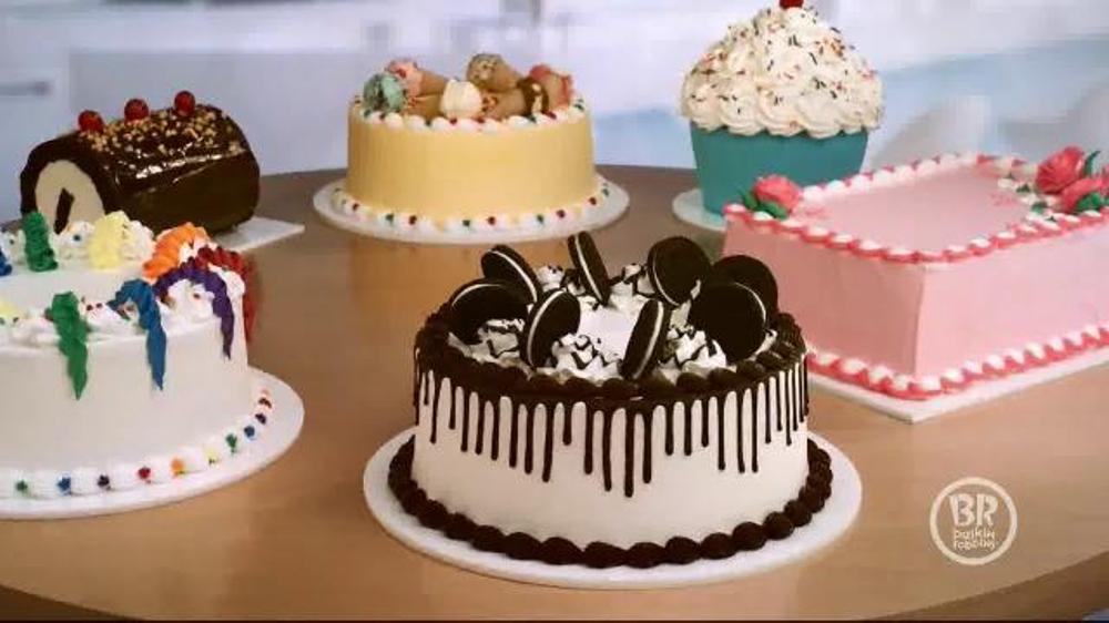 Basking Robbins' cakes