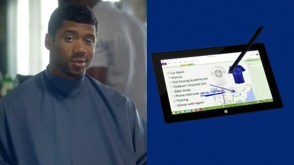 Microsoft surface pro 2 tv commercial ft russell wilson song by sara